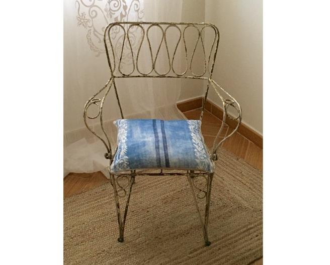 silla antigua forja